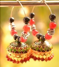 Buy Oxisidised Multicolour jhumka earrings navratri-jewellery online
