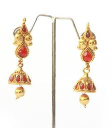 Buy Traditional Mango Layered Teardrop Set - Red necklace-set online
