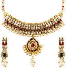 Buy Quail designer choker necklace necklace-set online