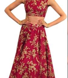Buy pink embroidered silk lehenga with choli bollywood-lehenga online