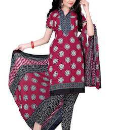 Buy Multicolor embroidered faux crepe unstitched salwar with dupatta ready-to-ship-salwar-kameez online