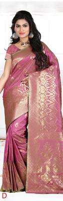 Multi color designer Georgette silk saree