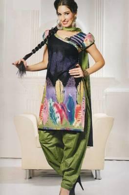 Dress Material Cotton SIik With Chiffon Dupatta Designer Print Unstitched Suit D.No 101