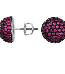 Buy 5.02ct Sardius White gold Precious gemstone-earrings gemstone-earring online