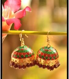 Buy Meenakari Mughal Designer Royal Earrings jhumka online