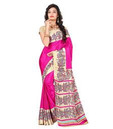 Buy Rani printed crepe saree with blouse crepe-saree online
