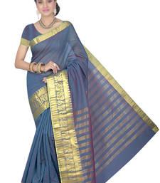 Buy Royal blue maheshwari saree with blouse maheshwari-saree online