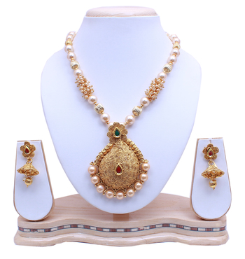 Antique Gold Plated Designer Necklace Set for Womens