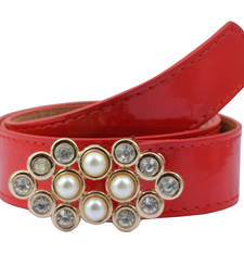 "Buy ""Red Color"" Belt Combo For Womens gifts-for-sister online"