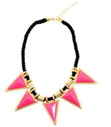 """Buy """"Sapphire Gemstone Triangles of Loe"""" Geometric Statement Necklace collar-necklace online"""