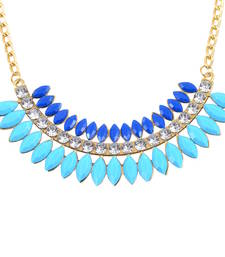 "Buy "" Beauty Of Blue"" Statement Neckalce collar-necklace online"