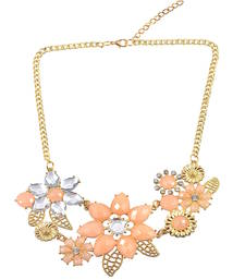 "Buy "" A Sign Of Beauty"" Peach Color Statement Necklace For Women collar-necklace online"
