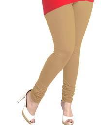 Buy Beige Churidaar Komal Cotton Leggings 213 legging online