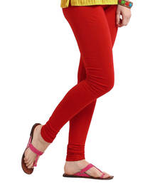 Buy Pretty Red Churidar Komal Cotton Leggings 216 legging online