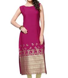 Buy pink printed crepe stitched kurti eid-kurti online