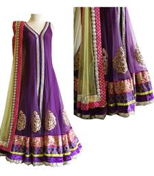 Buy Parpal embroidered long gown: mono net lehenga with choli ghagra-choli online