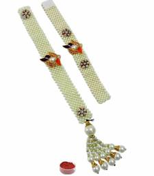 Buy Pearl rakhi and lumba for bhaiya bhabi pearl-rakhi-design online