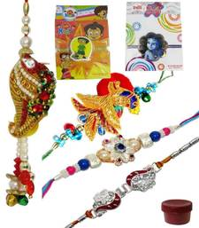 Buy Glamorous rakhi combo of family zardosi-rakhi online