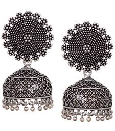 Buy Bollywood Fashion New Trendy Silver Plated Jhumka Jhumki Earrings jhumka online