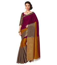 Buy Multicolor mysore  silk saree with blouse black-friday-deal-sale online