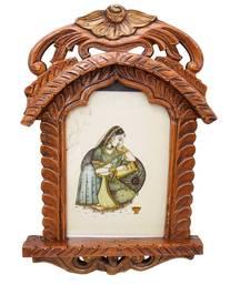 Buy Rajasthani Lady Portrait Wooden Jharokha Gift photo-frame online
