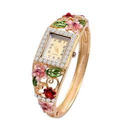 Buy Multicolor cubic zirconia bracelets watch online