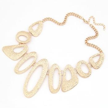 Hollow Gold Chocker Necklace(CFN0144)