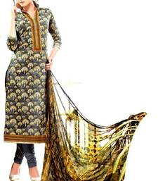 Buy grey digital print lawn cotton unstitched salwar with dupatta anarkali-salwar-kameez online