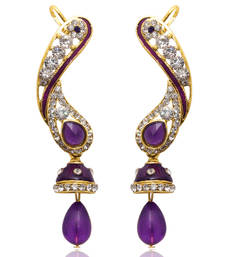 Buy Purple Meenakari ear-cuffs ear-cuff online