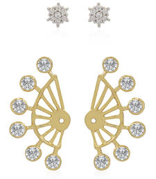 Buy Gold diamond ear-cuffs ear-cuff online
