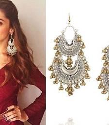 Buy Deepika Silver and Gold Double Afghani Chandbaali danglers-drop online