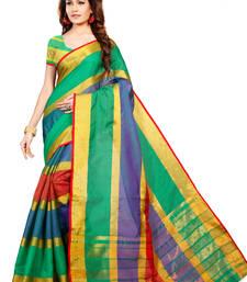 Buy Multicolor Woven Manipuri Cotton Silk Saree With Blouse manipuri-silk-saree online