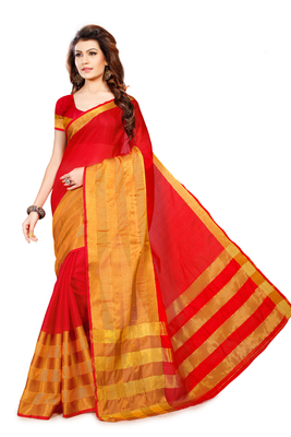 Multicolor Woven Manipuri Cotton Silk Saree With Blouse