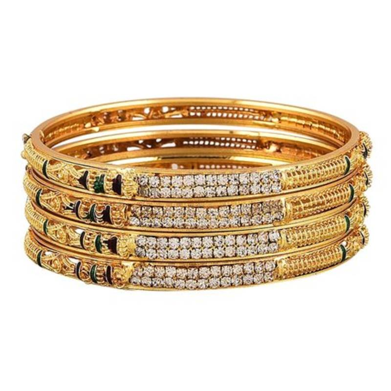 Buy gold plated bangles and bracelets Online