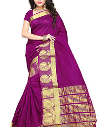 Buy Purple woven manipuri silk saree with blouse manipuri-silk-saree online