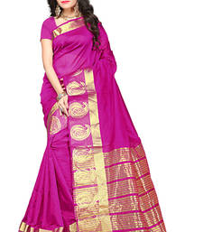 Buy Rani pink woven manipuri silk saree with blouse manipuri-silk-saree online