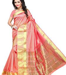 Buy Orange woven manipuri silk saree with blouse manipuri-silk-saree online