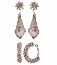 Buy Combo of two trendy earrings for girls and women combo-earring online