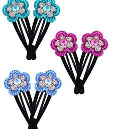 Buy Multicolor crystal stone Tic Tac Clip brooch online