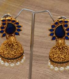 Buy Navy blue paisely peacock jumka jhumka online