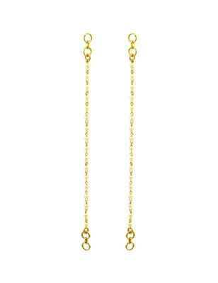Pearl White Traditional Rajwadi Ear Chain Jewellery for Women - Orniza