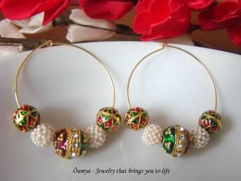 Traditional hoop earrings
