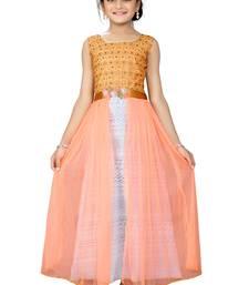 Buy orange fancy fabric kids frock kids-frock online