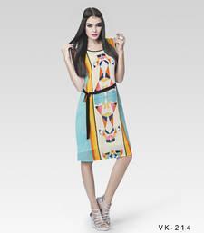 Buy Multicolor printed georgette kurtis multicolor-kurti online