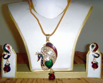 Set - Peacock pendant set