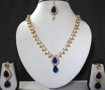 Blue stone necklace sets