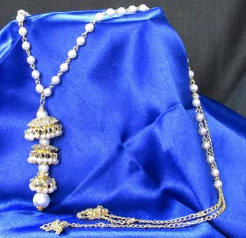 White pearl waist belt
