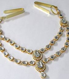 Buy White kundan waist belt fashion-deal online