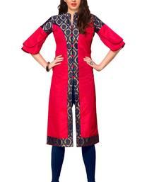 Buy Pink  plain jacquard ethnic-kurtis ethnic-kurtis online