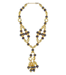 Buy Gold Color Quinton Bead Necklace for Women Necklace online